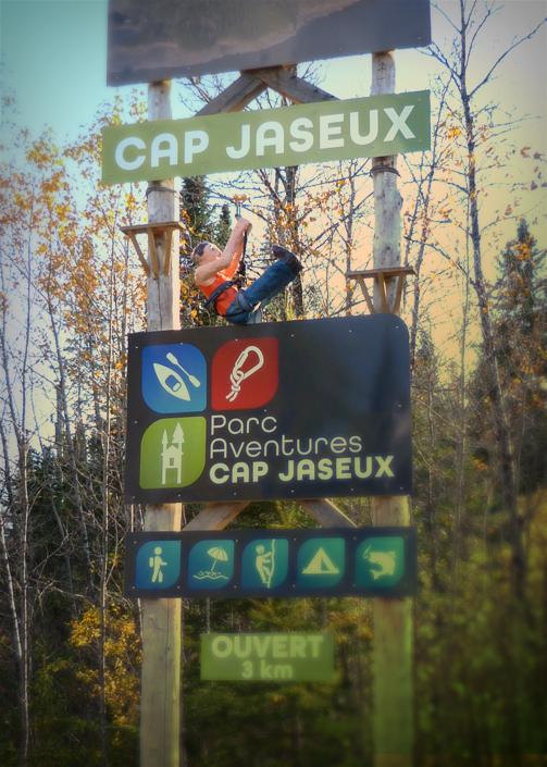Enseigne Parc Aventures Cap Jaseux